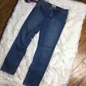 Free People High Waist Skinny Ankle Rayon Jeans 29